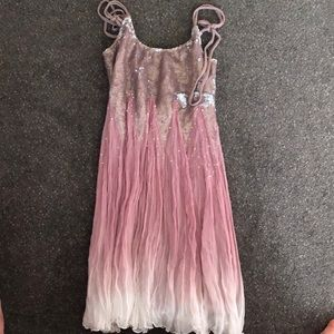 Free People Pink and Lavender Swing Dress